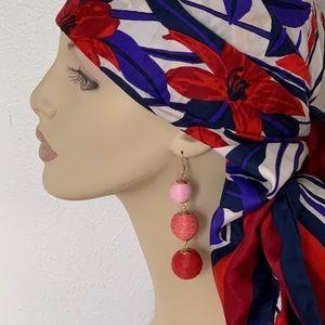 Anthropologie Jewelry - Pink ombré ball drop earrings ANTHROPOLOGIE